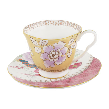 Wedgwood - Butterfly Bloom Teacup and Saucer Yellow