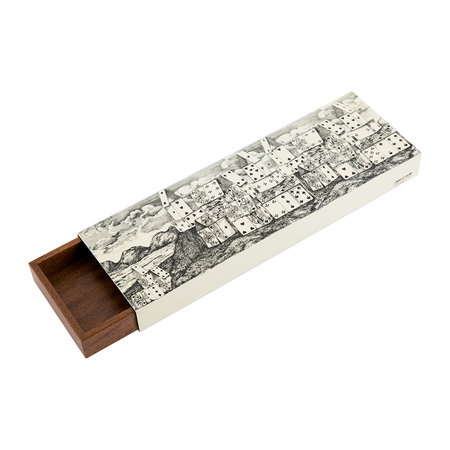 Fornasetti - Citta di Carte Trinket Box - 300 - Black/White