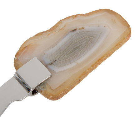 A by Amara - Natural Agate Cheese Knives - Set of 4