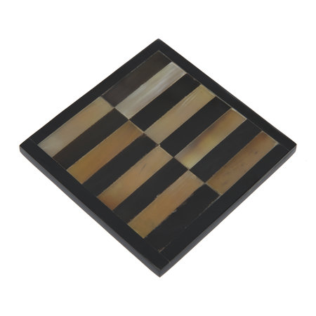 A by Amara - Square Coasters - Set of 4 - Tapered Horn