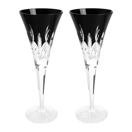 Waterford - Lismore Black Champagne Flute - Set of 2