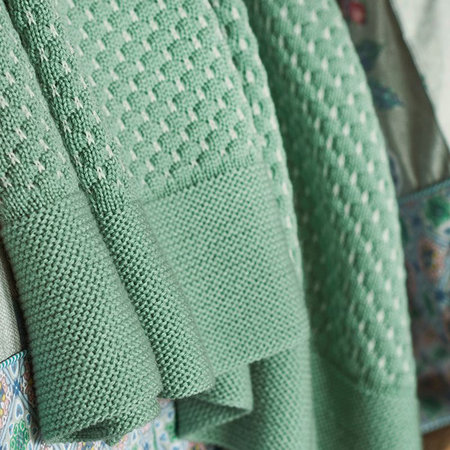 Pip Studio - Cosy Knitted Blanket - Green