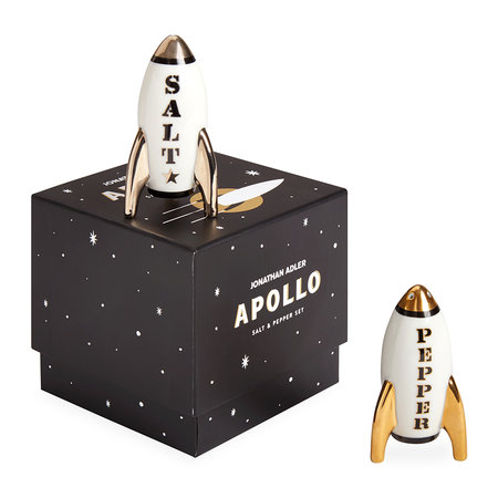 Jonathan Adler - Apollo Salt & Pepper Shakers - Black/White