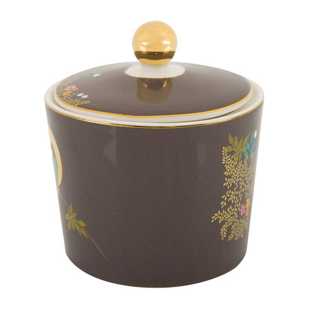 Sara Miller - Chelsea Collection Lidded Sugar Pot - Dark Gray