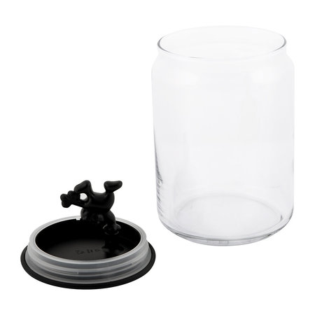 Alessi - Gianni Glass Storage Jar - Black - Medium