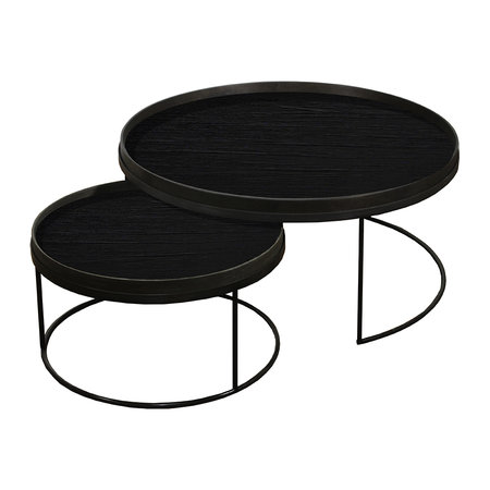 Notre Monde - Round Tray Table - Set of 2 - Extra Large - Low