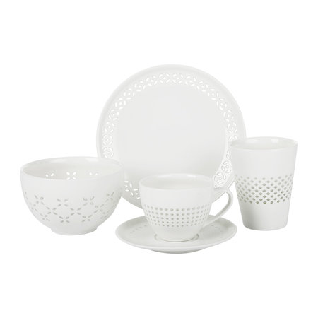 Pols Potten - Pierced Cups and Saucers - Set of 4