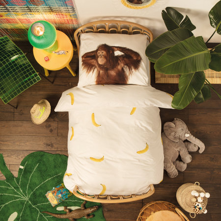 Snurk - Banana Monkey Quilt Set - Double