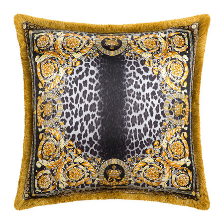 Versace Home - Crown Animalier Cushion - 50x50cm - Brown/Gold