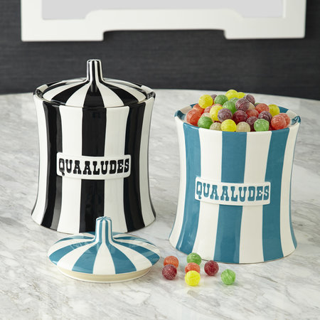 Jonathan Adler - Vice Canister - Quaaludes - Black/White