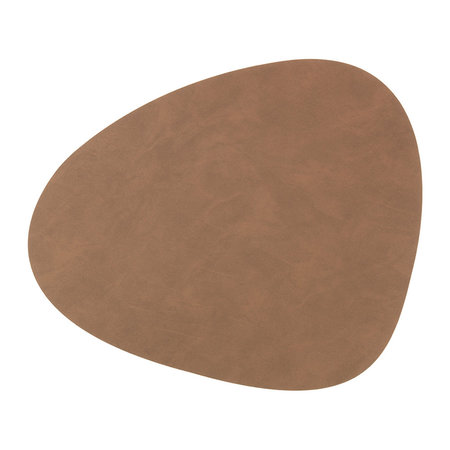 LIND DNA - Reversible Table Mat Curve - Brown/Sand