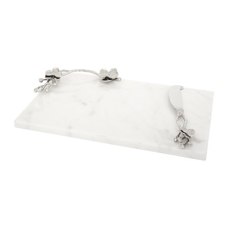 Michael Aram - White Orchid Cheese Board & Knife - Small