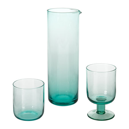 Bitossi Home - Bloom Glass Pitcher - Turquoise