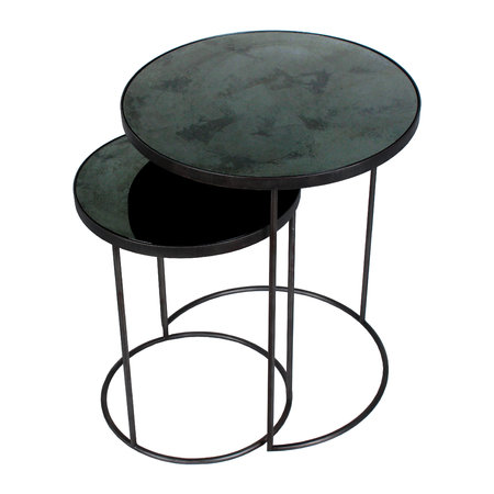 Ethnicraft - Nesting Side Table Set - Charcoal