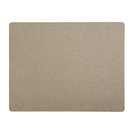 LIND DNA - Rectangle Table Mat - Brown - Large