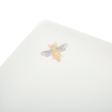 casacarta - Bee Tray - Fine Bone China - White