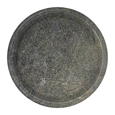 House Doctor - Round Marble Tray - Green