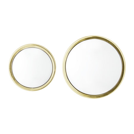 Bloomingville - Art Deco Round Mirror - Gold - Set of 2