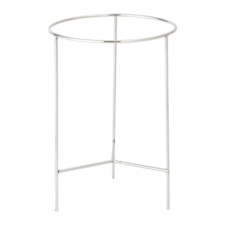 Bloomingville - Round Aluminum Tray Table - Large - Silver/Green