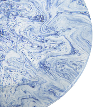 HAY - Soft Ice Lunch Plate - Enamelled Steel - Blue