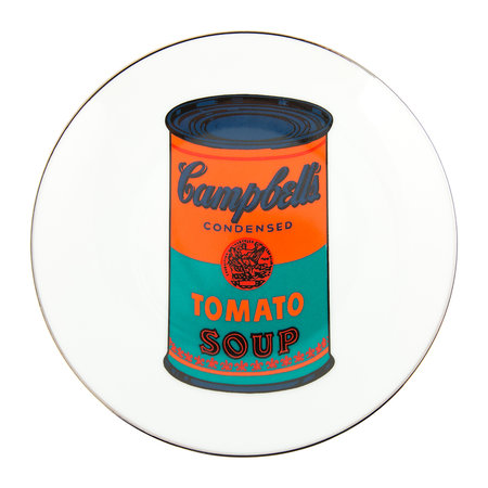 Ligne Blanche - Andy Warhol Plate - Campbell's Soup - Orange/Blue