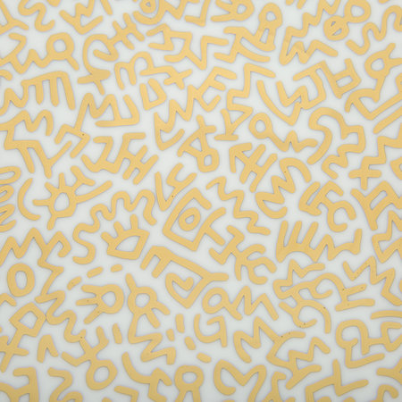 Ligne Blanche - Keith Haring 'Gold Pattern' Plate