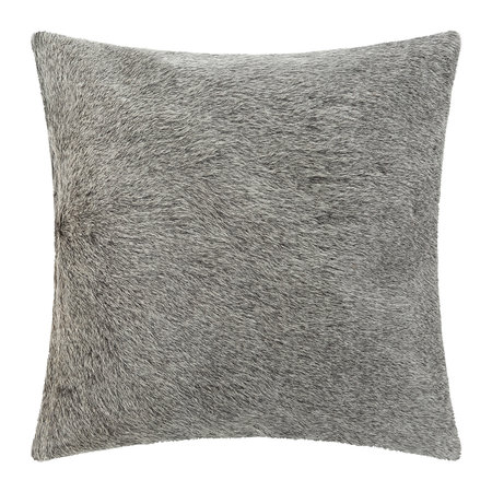 A by AMARA - Cowhide Pillow - 45x45cm - Gray