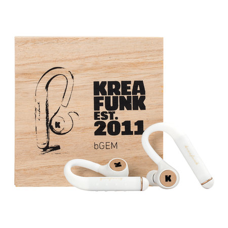 KREAFUNK - bGem Bluetooth In-Ear Headphones - White