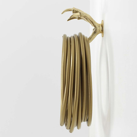 Garden Glory - Brass Claw Wall Mount - Gold
