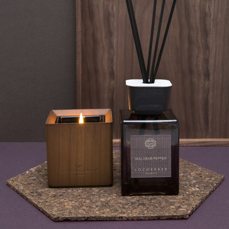 Locherber - Malabar Pepper Scented Candle & Canaletto Walnut Lid - 1.6kg