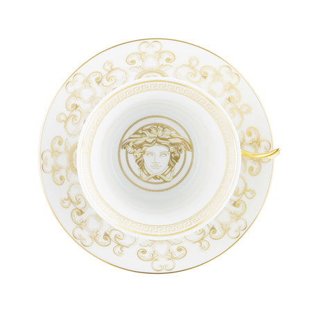 Versace Home - 25th Anniversary Medusa Gala Teacup & Saucer - Limited Edition