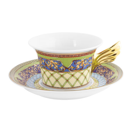 Versace Home - 25th Anniversary Russian Dream Teacup & Saucer - Limited Edition