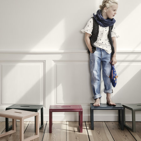 Ferm Living - Little Architect Wooden Stool - Rose