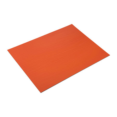A by Amara - Recycled Leather Placemat - Tangerine