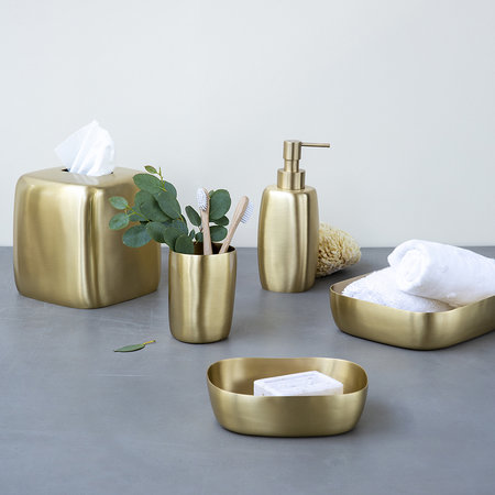 Tina Frey Designs - Brushed Brass Soap Dish