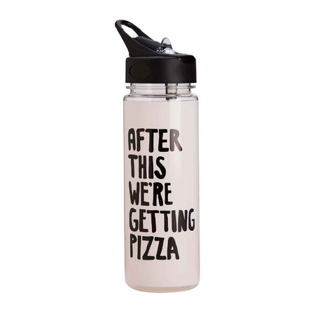 ban.do - Work It Out Water Bottle - After This We're Getting Pizza