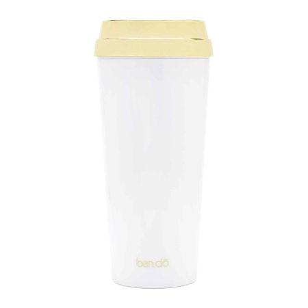 ban.do - Deluxe Hot Stuff Thermal Mug - 'But First Coffee' Gold