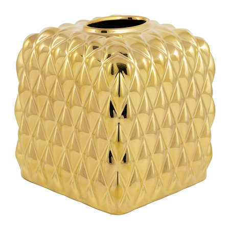 Villari - Black Tie Tissue Box - Gold