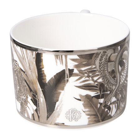 Roberto Cavalli - Tropical Jungle Teacup & Saucer Luxury Gift Set - Set of 2 - White