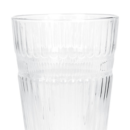 A by Amara - Barroc Highball Glasses - Set of 6 - Clear