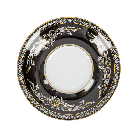 Versace Home - 25th Anniversary Medusa Silver Teacup & Saucer - Limited Edition
