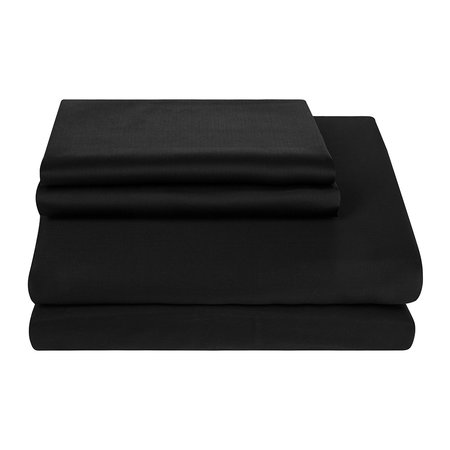 Essentials - Egyptian Cotton Quilt Cover - Black - King