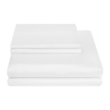Essentials - Egyptian Cotton Sateen Quilt Cover - White - Super King