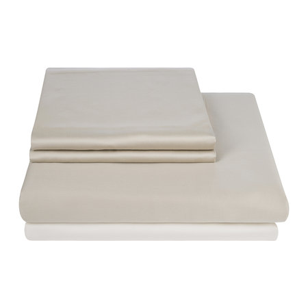 Essentials - Egyptian Cotton Sateen Quilt Cover - Taupe - Double