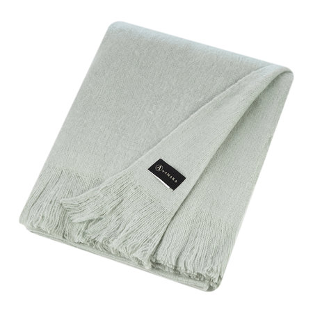 A by AMARA - Mohair Feel Throw - Aqua