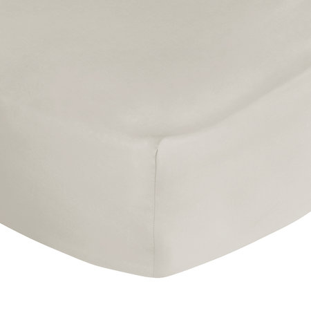 A by AMARA - 500 Thread Count Sateen Fitted Sheet - Ivory - King