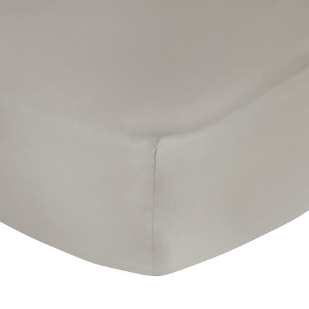 A by Amara - 500 Thread Count Sateen Fitted Sheet - Taupe - Double