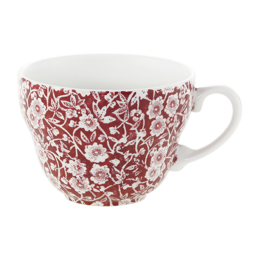 Burleigh - Red Calico Breakfast Cup
