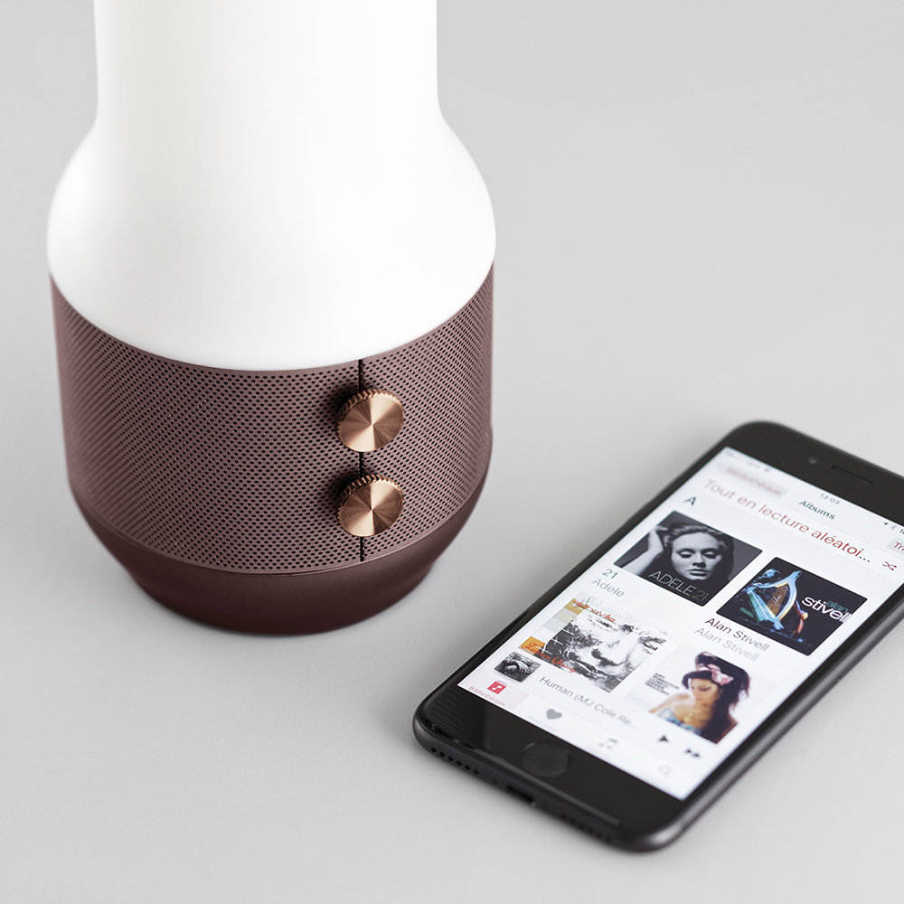 Lexon - Terrace Lamp/Speaker/Portable Charger - Brown