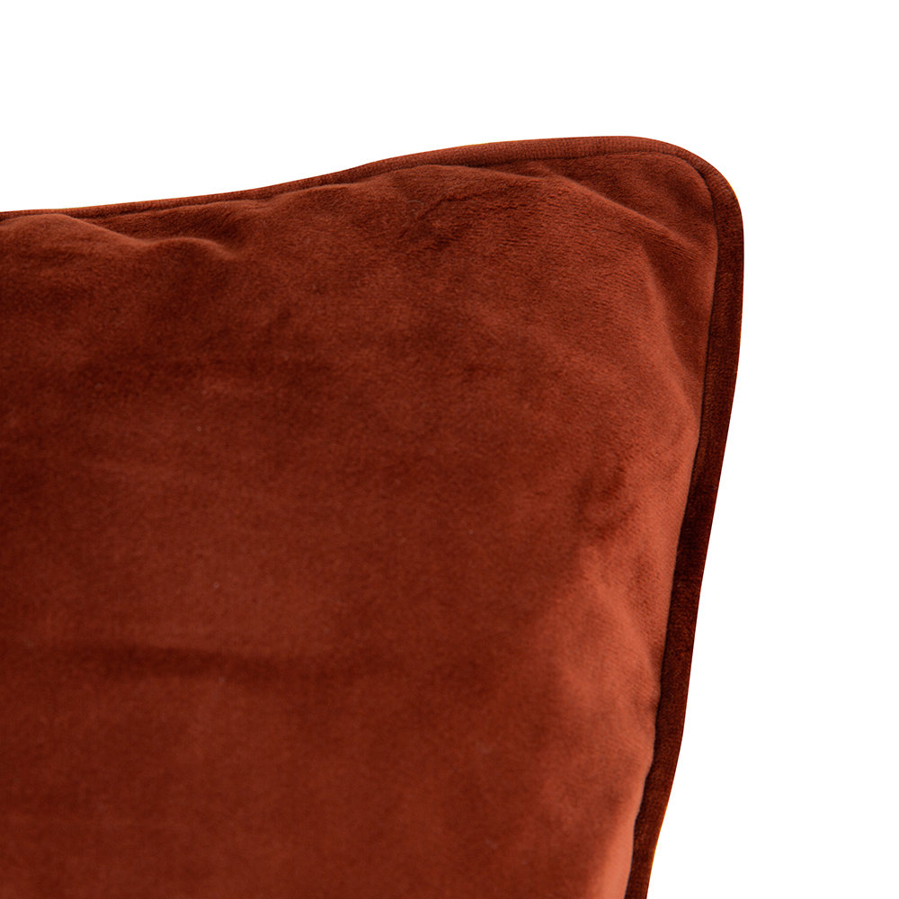 A by Amara - Velvet Cushion - Burnt Sienna - 60x60cm